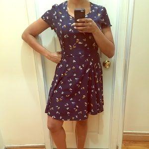 Zara summer/spring butterfly print dress
